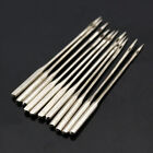 10pcs Stainless Serger Butterfly Sewing Machine Needles Lay In Threading Sz 9-18