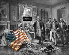 President George Washington Betsy Ross American Flag U.S. History 8 x 10 Photo