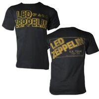 Led Zeppelin Square Gold Logo T-shirt