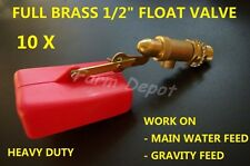 "FLOAT VALVE 1/2""  SOLID BRASS WATER TROUGH AUTOMATIC BOWL TANK HORSE DOG CATTLE"