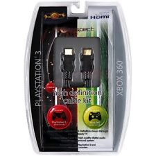 Universal Cable Kit For Xbox 360/PS3 High-Def 2m HDMI/2m Optical Gold Plated NEW