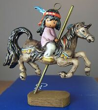 Degrazia Goebel Merry Little Indian Holiday Christmas Ornament Limited Edit 1989