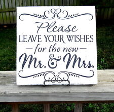 Barn Beach Wedding Mr. and Mrs.Sign Leave Wishes Guest Book Table Decoration