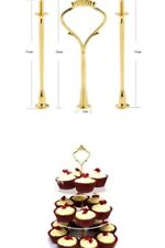 Make a statement  3 Tier Gold Cake Plate Stand Fittings for Wedding Party etc