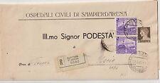 ITALIA 1940 COPIA 50C FERROVIE SU RACCOMANDATA PER USCIO