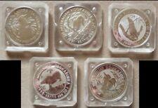 Münzkapsel vier-Eck Kookaburra 1990-1999. 5 Stück