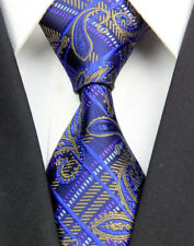 GL0400 Royal Brown Paisley Man Classic JACQUARD Woven Necktie Tie Formal NT
