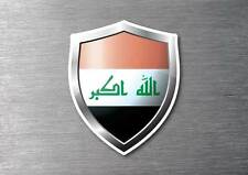 Iraq flag shield sticker 3d effect quality 7 year water & fade proof