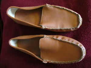 RED WINGS Men's Brown Leather Slipper Moccasin Size 11 Non Skid Sole