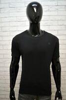 Maglia Nera Uomo G-STAR Taglia Size L Maglietta Polo Manica Corta Shirt Man