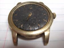 VTG OMEGA AUTOMATIC BLACK FACE SEAMASTER 14K GOLD FILLED CASE WRISTWATCH AS-IS