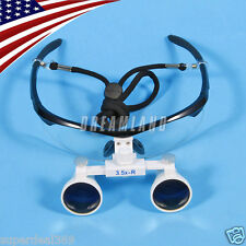 USA New Dental Optical Surgical Binocular 3.5X Loupes Glasses Magnifier Black CE