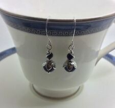 Brass Silver Plated Drop/Dangle Round Costume Earrings