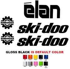 (#658) SKIDOO BOMBARDIER ELAN HOOD CAB AND SIDE STICKER DECAL ( 5 STICKERS KIT)