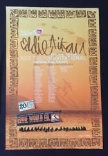QUIKSILVER-EDDIE AIKAU WOULD GO 2004-05 WAIMEA BAY HAWAII RARE POSTER/2 STICKERS
