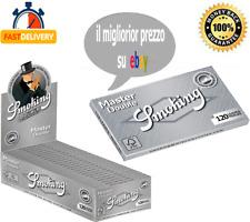 CARTINE SMOKING MASTER DOPPIE ARGENTO SILVER CORTE SCATOLA BOX 25/50 LIBRETTI ✅