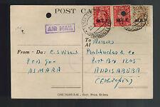 1944 England MEF Asmara Eritrea Postcard Cover to Addis Ababa