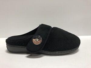 Vionic Indulge Sadie, Black Suede Slippers, Size US 5 M.