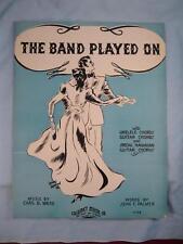The Band Played On Sheet Music Vintage 1936 J F Palmer C B Ward V G Ganeff (O)