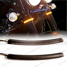 LED 52mm-58mm Fork Turn Signal Light Smoked Lens For Universal Motorcycle Models