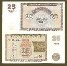 Armenia P34, 25 Dram, Tablet with writing; frieze from Erebuni castle, 1993 $3CV