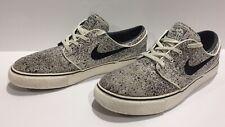 RARE 2014 Nike Stefan Janoski SB Ivory Black splatter Men's Skate Shoes Size 8.5