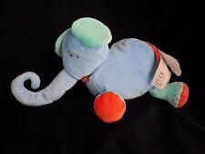 """Ikea Barnslig Elefant Elephant Blue Green Orange Plush 12"""" Stuffed Animal"""