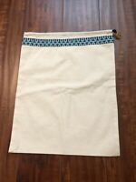 "NEW Tory Burch Drawstring Dust Bag / Shoes Cover -  Size 15"" X 12"""
