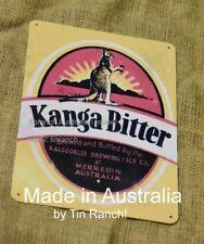 new vintage KANGA BITTER beer TIN SIGN Merredin WA Kalgoorlie Brewing metal Bar