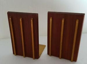 2 Buchstützen aus den 60er- 70er Jahren Teak Holz Vintage