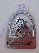 aaD I love Grandma gingerbread house TIDINGS OF THE SEASON CHRISTMAS ORNAMENT