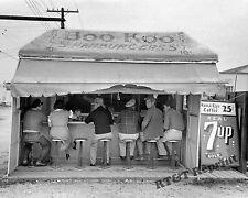 Historical Photograph of Hamburger Stand Boo Koo - Harlingen Texas 1939  8x10
