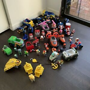 Huge Paw Patrol Lot W/ Many Figures and Vehicles