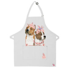 American Staffordshire Terrier Amstaff Dog Apron Two Pocket Bib Apron with Adj N
