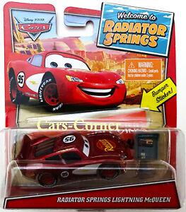 Disney Pixar Cars Radiator Springs Lightning McQueen With Bumper Sticker New Ovp
