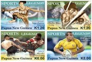 Papua New Guinea 2012 - Sports Legends Set of 4 Stamps - MNH