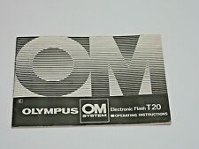 OLYMPUS T20 FLASH FLASHGUN ORIGINAL INSTRUCTION MANUAL BOOK