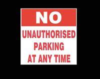 Polite Notice - No Parking No Unauthorized parking Sign/Sticker
