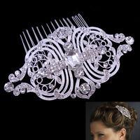 10x6cm Big Art Deco Wedding Bridal Bridesmaid Pearl Crystal Hair comb