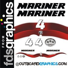 Mariner 4hp 4 stroke outboard decals/sticker kit with EPA decal
