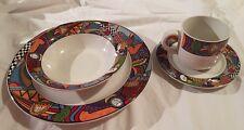 1991 Placesetting Vitromaster METROPOLITAN Dinner Plate Soup Bowl Cup & Saucer