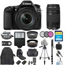 Canon EOS 80D DSLR w/ 18-135mm and 75-300mm III Lens BUNDLE W/ 1 Yr Warranty!!