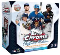 2020 Topps Chrome Sapphire Edition 1 Hobby Box Random Team Break Saturday