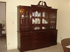 Antique Carved Mahogany Breakfront Good Condition China Cabinet Bookcase 84W 90H