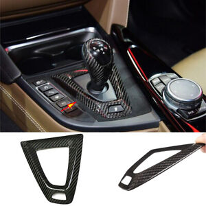 Real Carbon Fiber Console Gear Shift Surround Trim For BMW M3 M4 F80 F82 2014-19