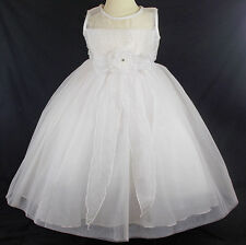 Bridesmaid dress christening girl wedding occasion flower girl 2 years IVORY