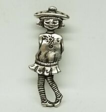 Vintage Mary Engelbreit Sterling Silver 925 Pin/Brooch - Girl