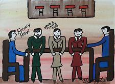 HENRY HILL Signed 15x11 Original Art Work GOODFELLAS MOBSTER COA