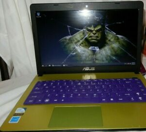 Asus X401A - laptop - USED - green - Windows 10 - 4GB RAM - 2.3 Ghz. windows 10