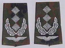 dienstgradabzeichen rangschlaufen, BORDADO Oberst FLECK d7146